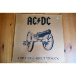 AC/DC - FOR THOSE ABOUT TO ROCK LP - Nr MINT ROCK METAL