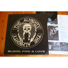THE ALMIGHTY - BLOOD FIRE & LOVE LP + FLEXI - Nr MINT A1/B1 UK