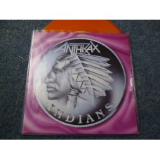 "ANTHRAX - INDIANS Orange Vinyl 7"" - Nr MINT UK MISPRESS"