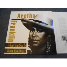 ARETHA FRANKLIN - WHAT YOU SEE IS WHAT YOU SWEAT LP - Nr MINT A1/B1 1991  FUNK SOUL