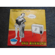 """BAD MANNERS - WALKING IN THE SUNSHINE 7"""" - EXC+ UK SKA 2 TONE SPECIALS"""