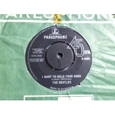 """THE BEATLES - I WANT TO HOLD YOUR HAND 7"""" - VG+ UK 1963 ORIG"""