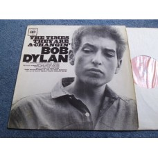 BOB DYLAN - THE TIMES THEY ARE A-CHANGIN' LP - VG/G A1 UK MONO ORIGINAL RARE MISPRESS