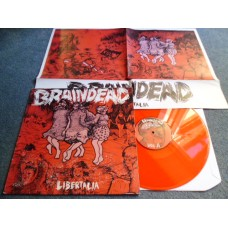 BRAINDEAD - LIBERTALIA Red Vinyl LP - Nr MINT PUNK SKA HARDCORE