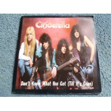 """CINDERELLA - DON'T KNOW WHAT YOU GOT (TILL IT'S GONE) Poster 7"""" - Nr MINT UK ROCK METAL"""