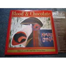 ELVIS COSTELLO AND THE ATTRACTIONS - BLOOD & CHOCOLATE LP - Nr MINT UK  INDIE PUNK
