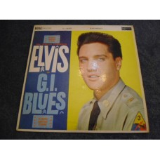 ELVIS PRESLEY - G.I. BLUES LP - VG UK MONO RCA BLACK LABEL SILVER SPOT