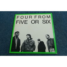 """FIVE OR SIX - FOUR FROM FIVE OR SIX 12"""" - Nr MINT A2/B2 1982 POST PUNK NEW WAVE ELECTRONICA INDIE"""