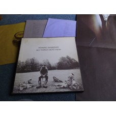 GEORGE HARRISON - ALL THINGS MUST PASS 3LP BOX SET + POSTER - Nr MINT UK BEATLES