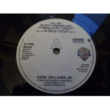 "HANK WILLIAMS JR - ALL MY ROWDY FRIENDS ARE COMING OVER TONIGHT 7"" - Nr MINT UK COUNTRY"