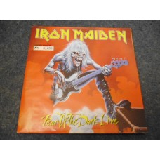 """IRON MAIDEN - FEAR OF THE DARK Live Poster Sleeve 7"""" - Nr MINT UK HEAVY METAL"""