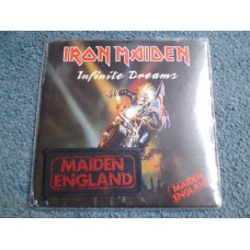 "IRON MAIDEN - INFINITE DREAMS 7"" + PATCH - MINT SEALED UK  HEAVY METAL"