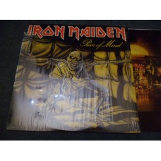IRON MAIDEN - PIECE OF MIND LP - EXC+ A2/B2mtx UK