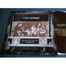 THE KINKS - LIVE ON AIR 1964-1965 VOLUME ONE Brown Vinyl LP - Nr MINT