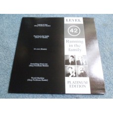 LEVEL 42 - RUNNING IN THE FAMILY Platinum Edition LP - Nr MINT UK  MARK KING FUNK