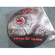 OBITUARY - CAUSE OF DEATH Picture Disc LP - Nr MINT A1/B1  THRASH DEATH METAL