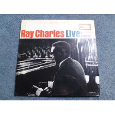 RAY CHARLES - LIVE IN CONCERT LP - Nr MINT
