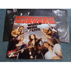SCORPIONS - WORLD WIDE LIVE 2LP - EXC+