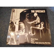 """THE SPECIALS - GHOST TOWN 7"""" EP - EXC+ UK PAPER LABELS SKA PUNK 2 TONE"""