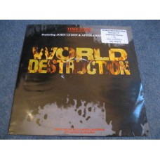 "TIME ZONE - WORLD DESTRUCTION 12"" - EXC+ UK JOHN LYDON AFRIKA BAMBAATA HIP HOP PUNK ELECTRONICA"
