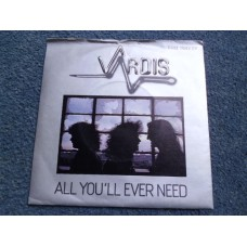 "VARDIS - ALL YOU'LL EVER NEED 7"" - Nr MINT UK ROCK HEAVY METAL"