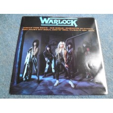 "WARLOCK - FIGHT FOR ROCK 12"" EP - Nr MINT A2/B1 UK  HEAVY METAL"