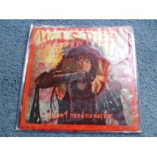 "WASP - I DON'T NEED NO DOCTOR Red Vinyl 7"" - Nr MINT UK  HEAVY METAL"