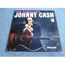 JOHNNY CASH - THE FABULOUS JOHNNY CASH LP - VG+ 1958 UK  COUNTRY